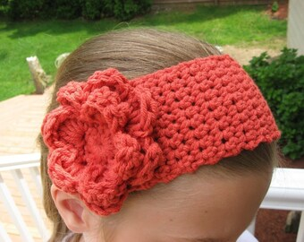 Blossoming Headband, Crochet Pattern Pdf, fits all sizes 2- adult, Instant pattern download