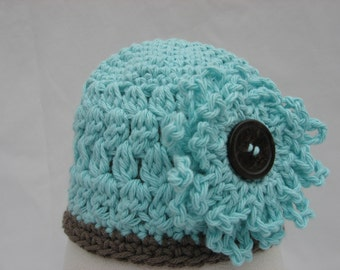 Crochet Pattern,Openweave Puff Stitch Beanie with 2 Flower Blossom Styles included, instant download available