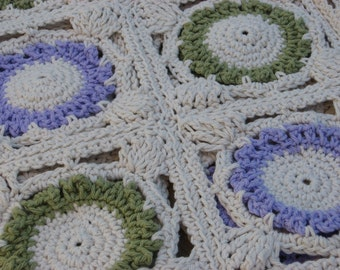 Flora Bunda Crochet Throw Blanket ,Crochet Pattern Pdf