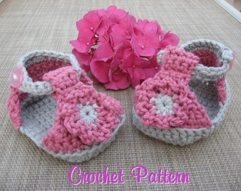 Baby Sandals, Crochet Pattern Pdf, super cute, super easy