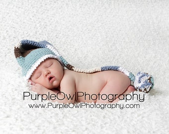 Striped Long Tail Pom Pom Hat Crochet Pattern Pdf, All sizes newborn-adult,makes a  terrific photo prop, Instant Pattern Download Available