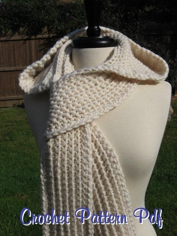 Nordic Hooded Scarf, Crochet Pattern Pdf