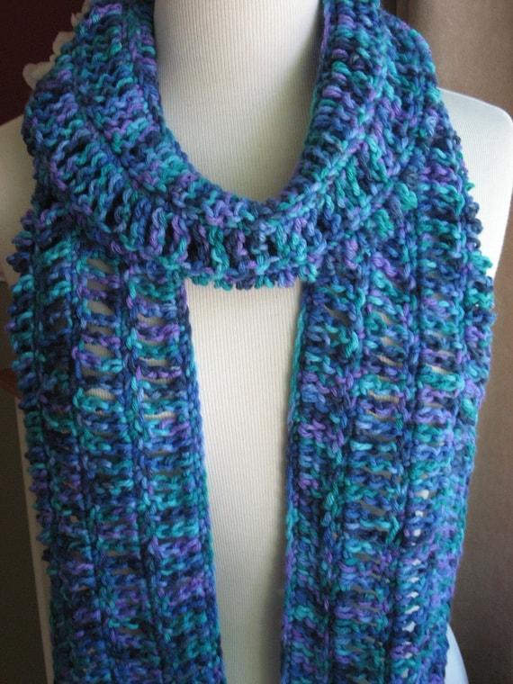 Oceana Openwork Scarf , Crochet Pattern Pdf
