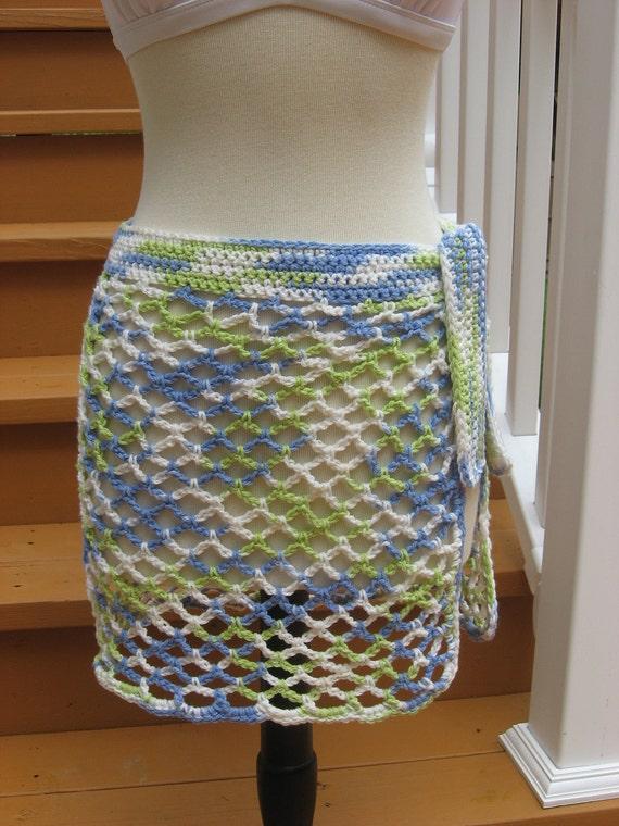 Caribbean Breeze, swimsuit wrap Crochet Pattern Pdf