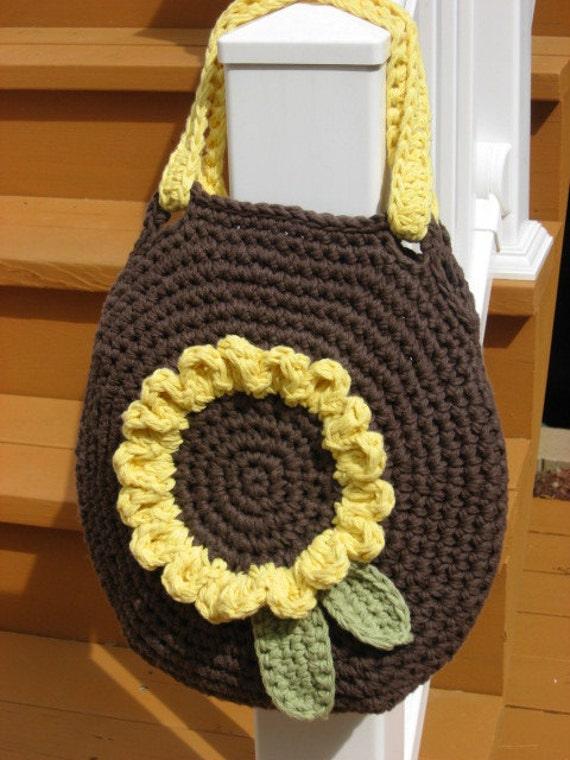 Sunshine on My Shoulder, Sunflower Bag Crochet Pattern Pdf, Instant pattern download