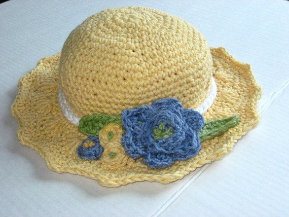 Summer Blooms Crochet Sun Hat Pattern pdf