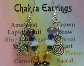 Chakra Earrings - Star and Double Spiral