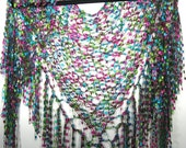Stained Glass Fiber Fantasy Shawl\/Wrap\/Scarf
