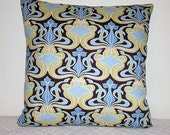 Pillow Blue Gold Brown Moraccan