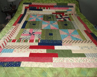 Fresh Air Funky Throw Quilt