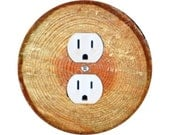 Tree Log Duplex Outlet Plate Cover
