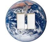 Planet Earth from Space Decora Double Rocker Switch Plate Cover