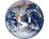 Planet Earth from Space Double Toggle Switch Plate Cover