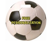 Soccer Sports Ball Personalized Luggage Bag Tag