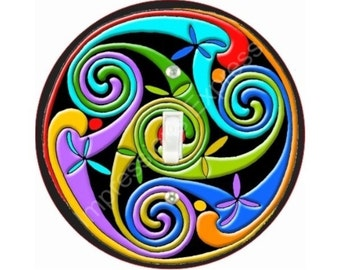 Celtic Triskelion Single Toggle Switch Plate Cover