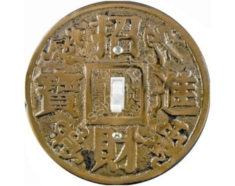Chinese Fortune Coin Single Toggle Switch Plate Cover