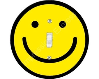 Smiley Face Single Toggle Switch Plate Cover