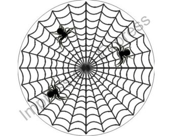 Spider Web Round Mousepad
