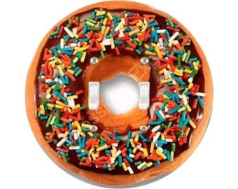 Doughnut Double Toggle Light Switch Plate Cover