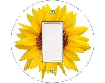 Sunflower Flower Decora Rocker Switch Plate Cover
