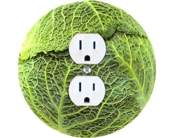 Cabbage Round Duplex Outlet Plate Cover