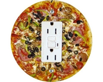 Supreme Pizza Grounded GFI Outlet Plate Cover