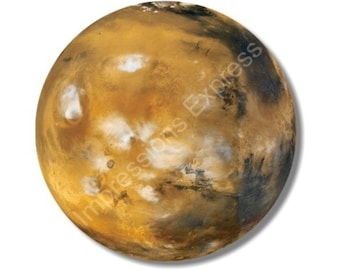 Planet Mars Space Round Mousepad