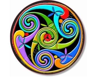 Celtic Triskelion Round Mousepad
