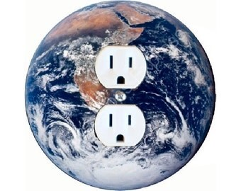 Planet Earth from Space Duplex Outlet Plate Cover