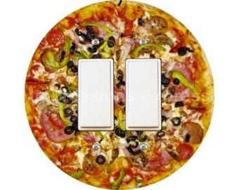 Supreme Pizza Decora Double Rocker Switch Plate Cover