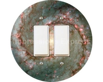 Whirlpool Galaxy Space Decora Double Rocker Switch Plate Cover