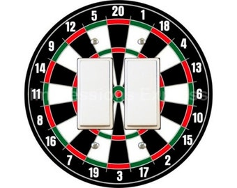 Darts Dartboard Decora Double Rocker Switch Plate Cover