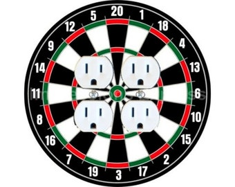 Darts Dartboard Double Duplex Outlet Plate Cover