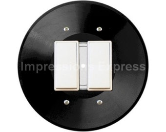 Vinyl Record Decora Double Rocker Switch Plate Cover
