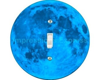 Blue Moon Single Toggle Switch Plate Cover
