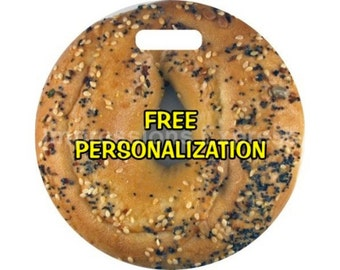 Bagel Personalized Luggage Bag Tag