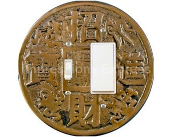 Chinese Fortune Coin Toggle and Decora Rocker Switch Plate Cover