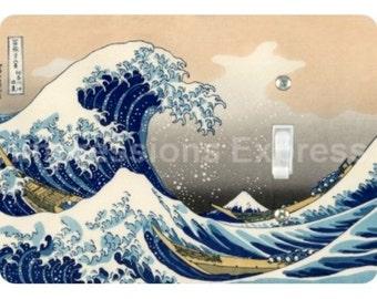 Kanagawa Great Wave Hokusai Painting Single Toggle Light Switch Plate Cover