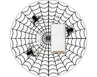 Spider Web Toggle and Decora Rocker Switch Plate Cover