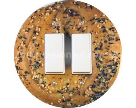 Bagel Decora Double Rocker Switch Plate Cover