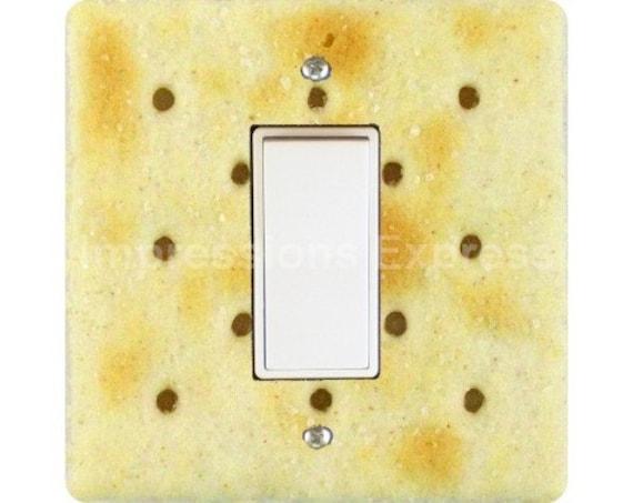 Saltine cracker square decora rocker light switch plate cover