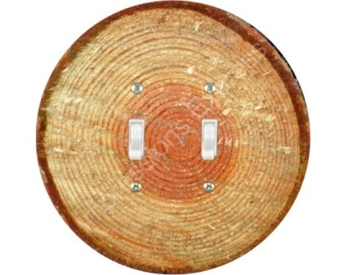 Tree Log Double Toggle Switch Plate Cover