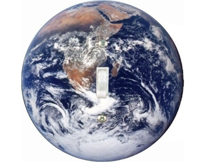 Planet Earth from Space Single Toggle Switch Plate Cover
