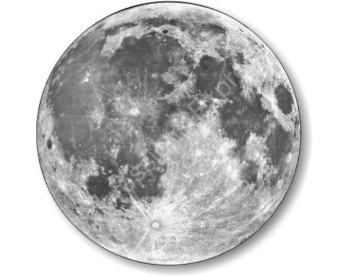 Featured listing image: Moon from Space Round Mousepad