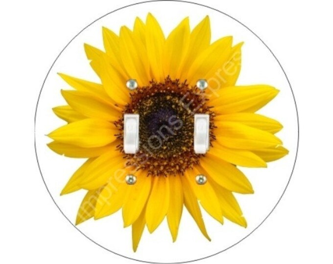Sunflower Flower Double Toggle Switch Plate Cover