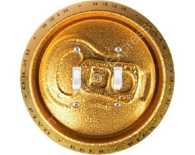 Beer Can Double Toggle Switch Plate Cover