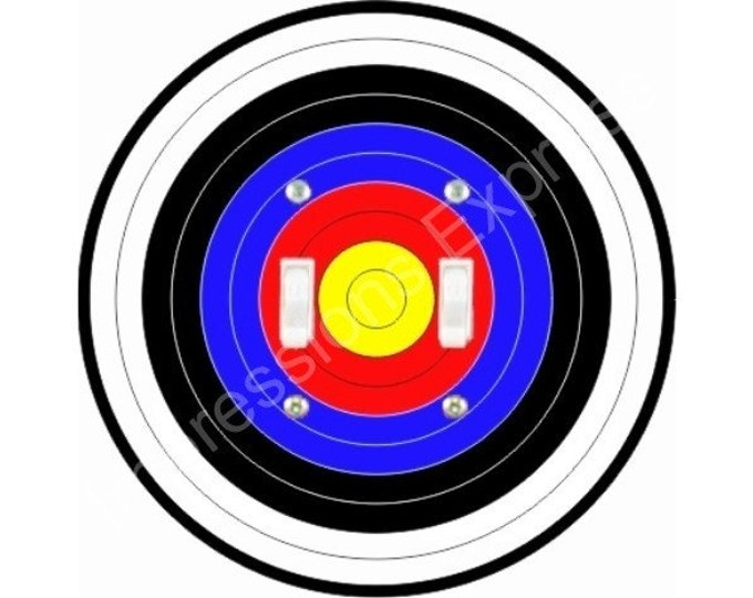 Archery Target Double Toggle Switch Plate Cover