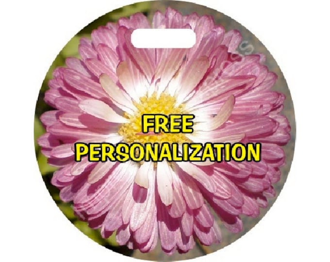 Pink Daisy Flower Personalized Luggage Bag Tag