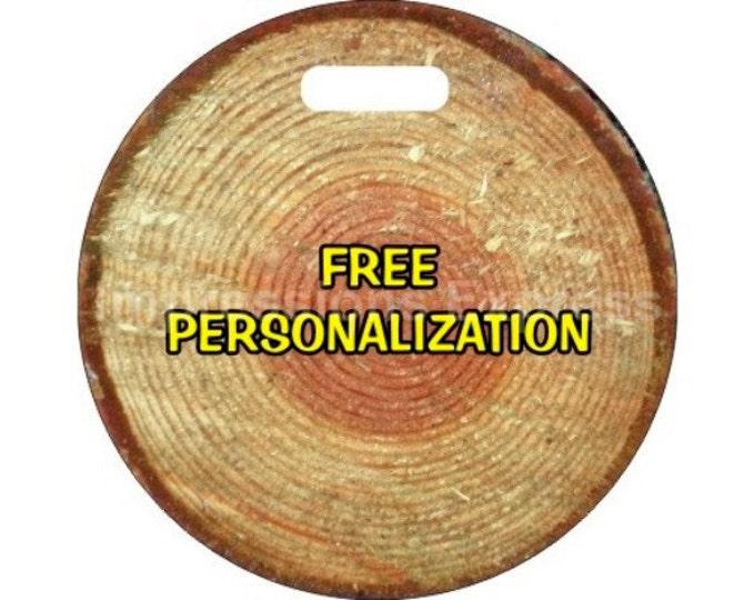 Tree Log Personalized Luggage Bag Tag