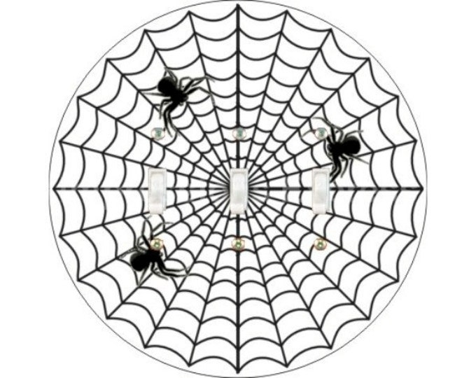 Spider Web Triple Toggle Switch Plate Cover
